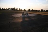 Nebraska - Wyoming border picnic table