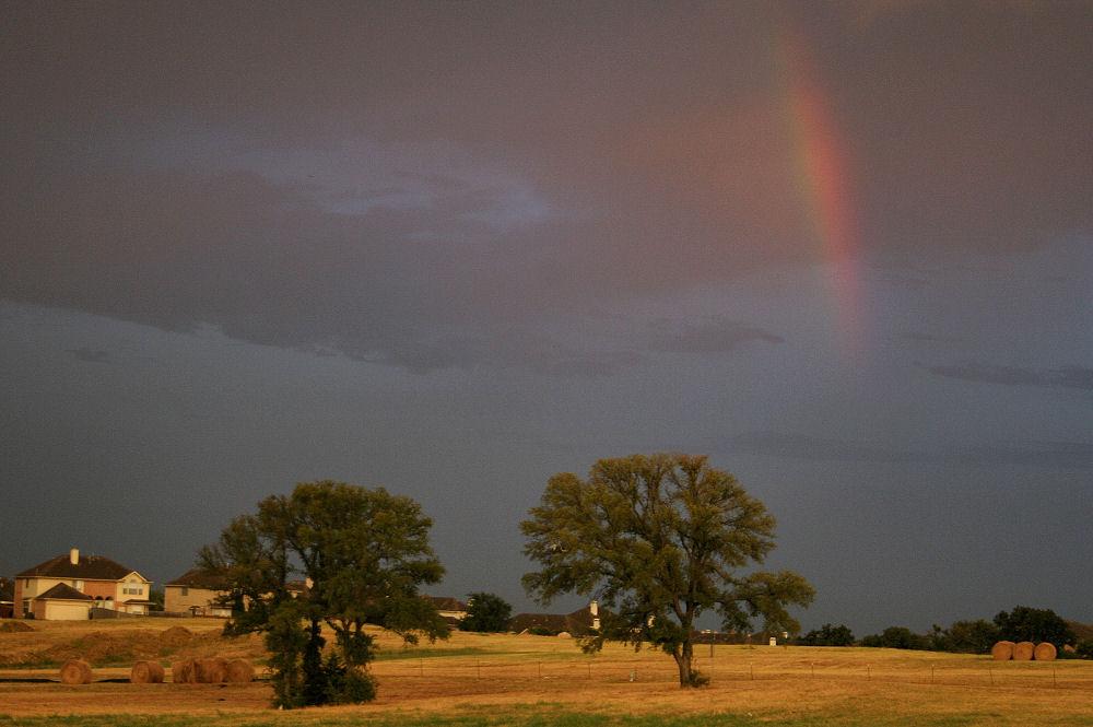 Rainbow at sunset, Lewisville TX