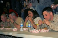 Miss Roundup and the rattlesnake eating contest
