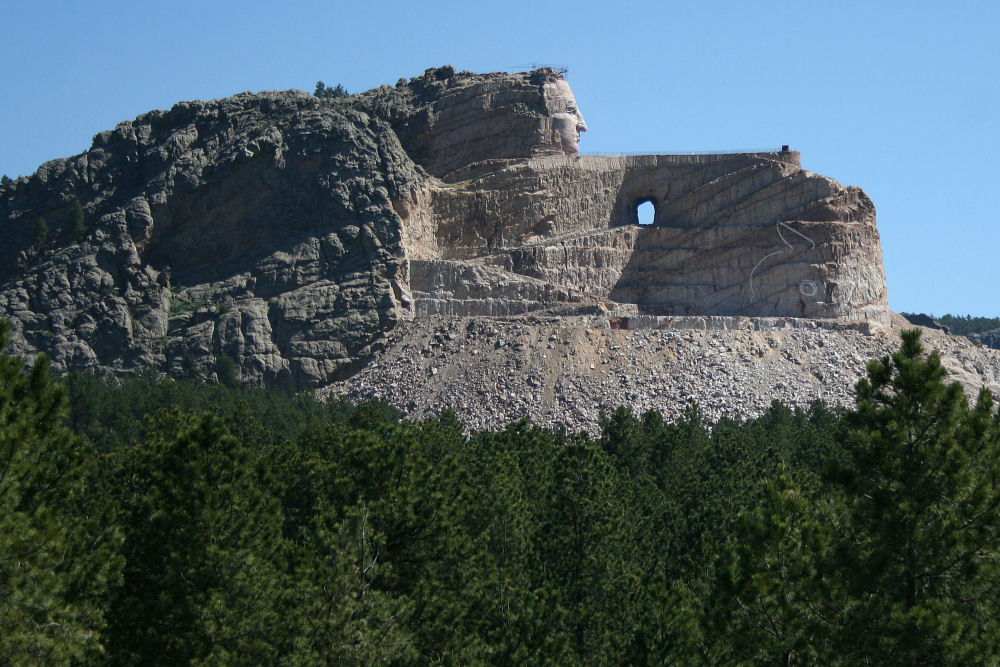 Mount Rushmore, and Crazy Horse National Monument, South Dakota USA