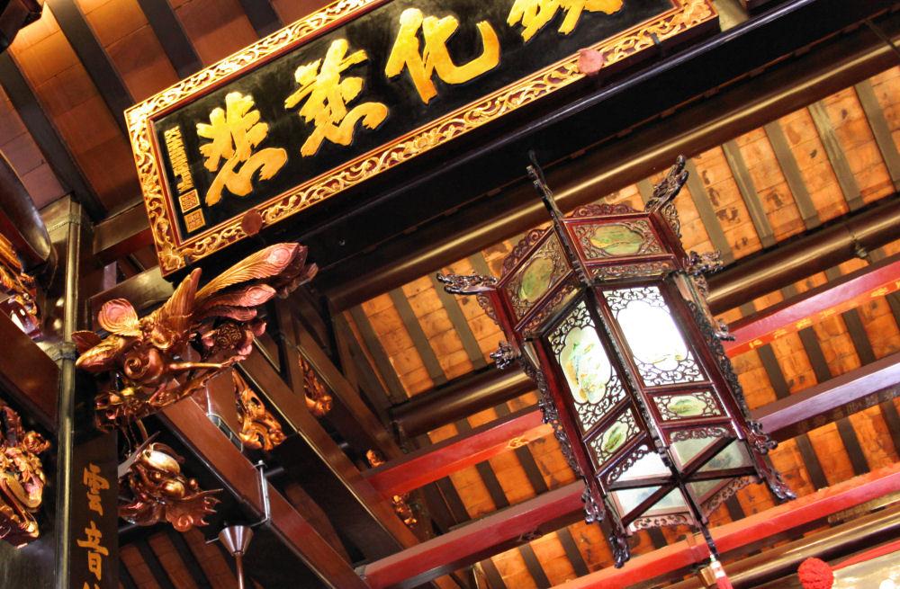 Cheng Hoon Teng temple ceiling, Malacca, Malaysia