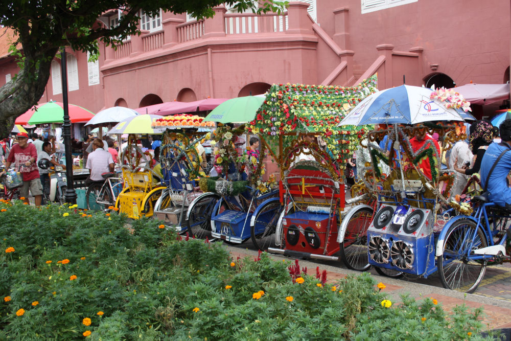 Bike taxis, Malacca, Malaysia