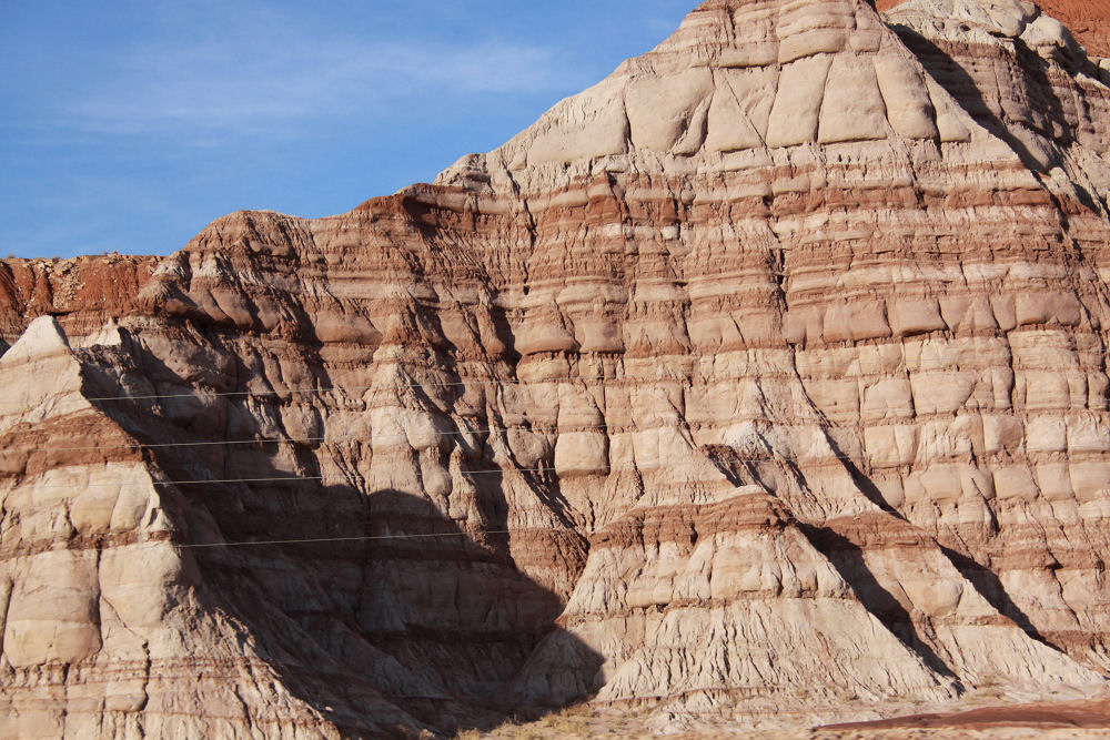 Rock formations, Hwy 15, heading south near Page,, Utah