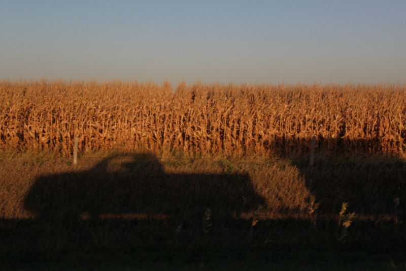 Iowa cornfeilds, driving east from OR USA to Ontario, Canada