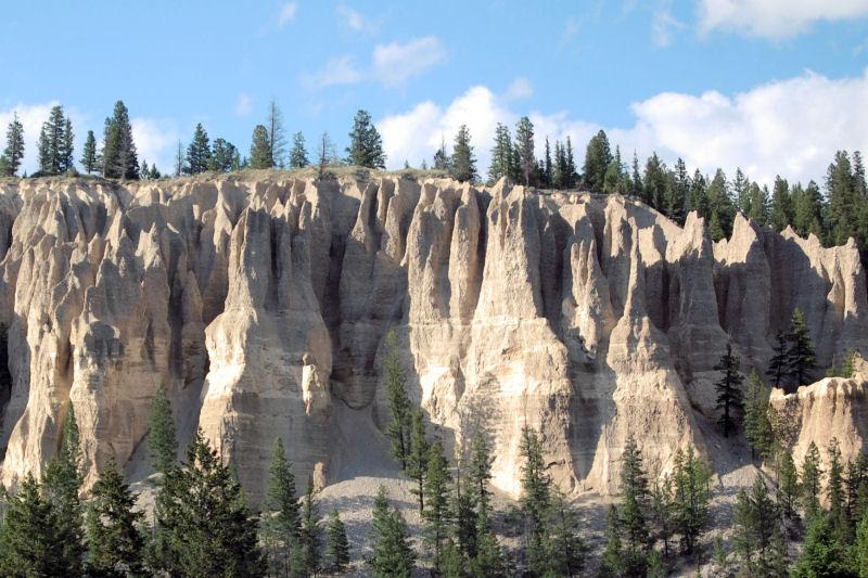 Dutch Creek Hoodoos, rock formations near Sandpoint, Idaho