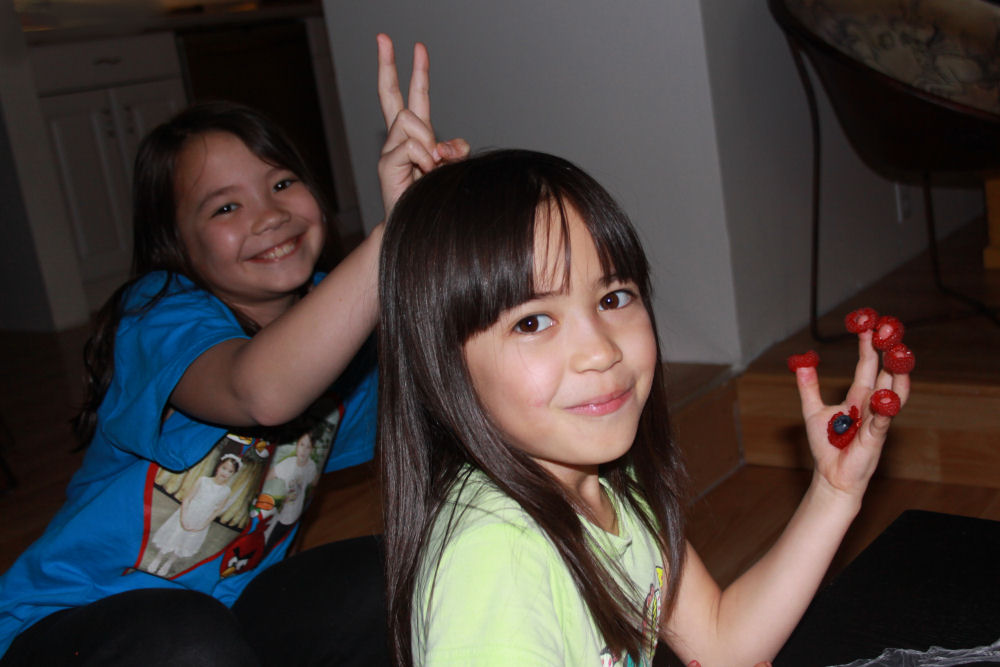 My neices, Evelyn and Andra