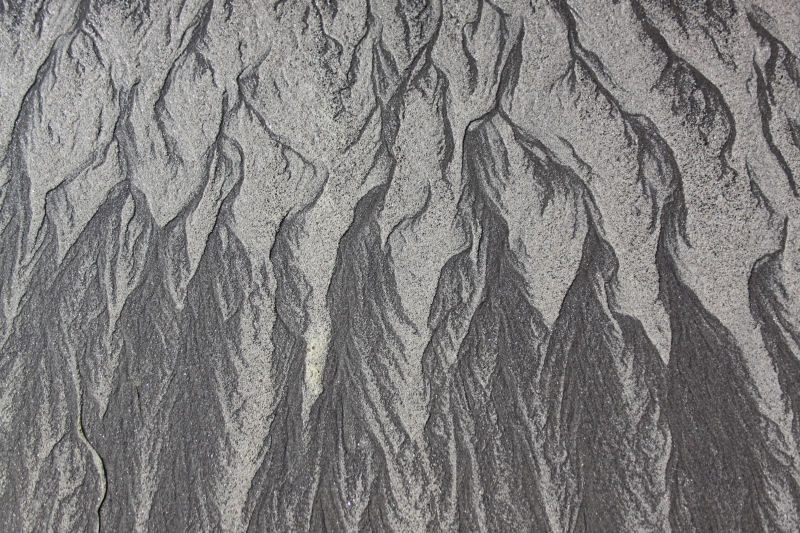 Sand designs, Long Beach, Washington, USA