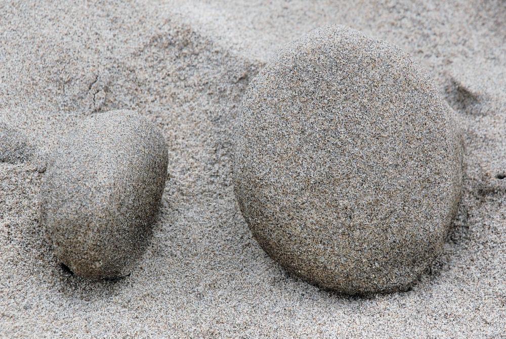 Netarts Bay and Oceanside, Oregon phenomena - wind and tides formed sand sculptures