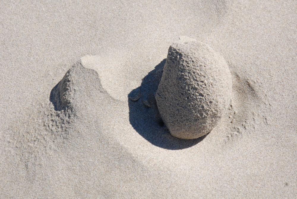 Netarts Bay, Oregon phenomena - wind and tides formed sand sculptures
