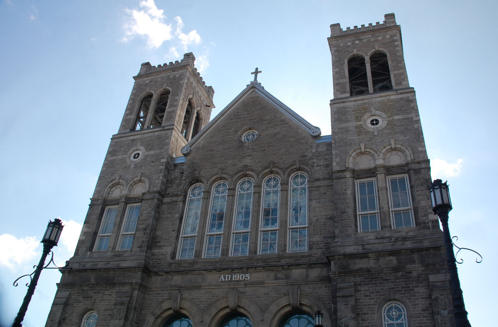 Catholic church, Sainte-Agathe-des-Monts, PQ, Canada