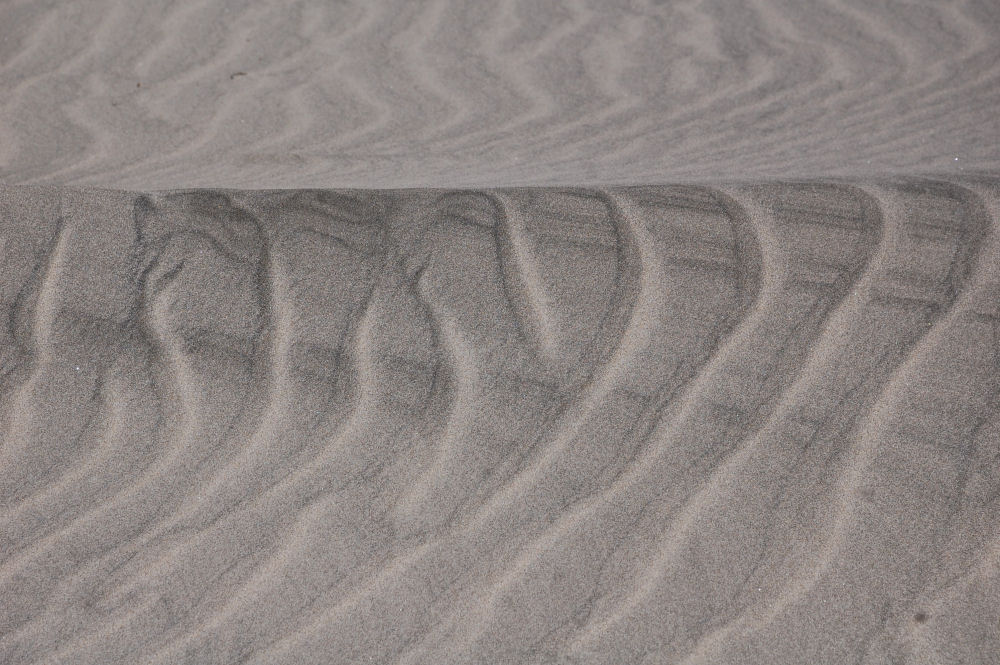 Naturally occurring sand designs, Oceanside, OR, USA