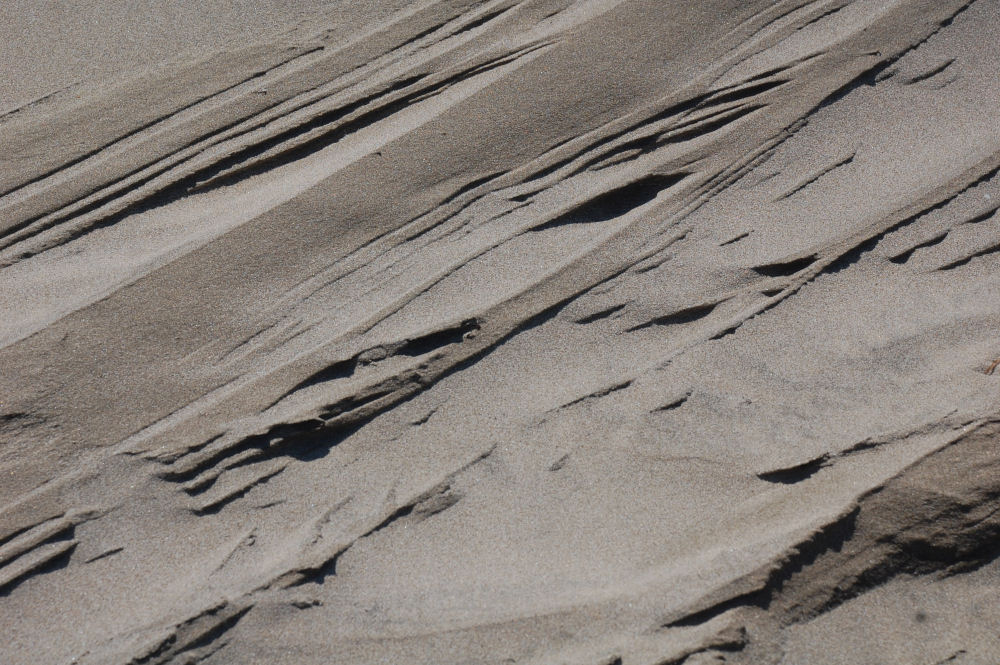 Naturally occurring sand design, Oceanside, OR