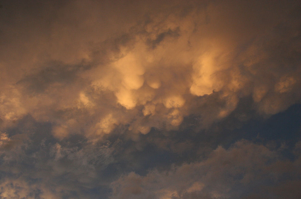 Mammatus clouds, Dallas TX
