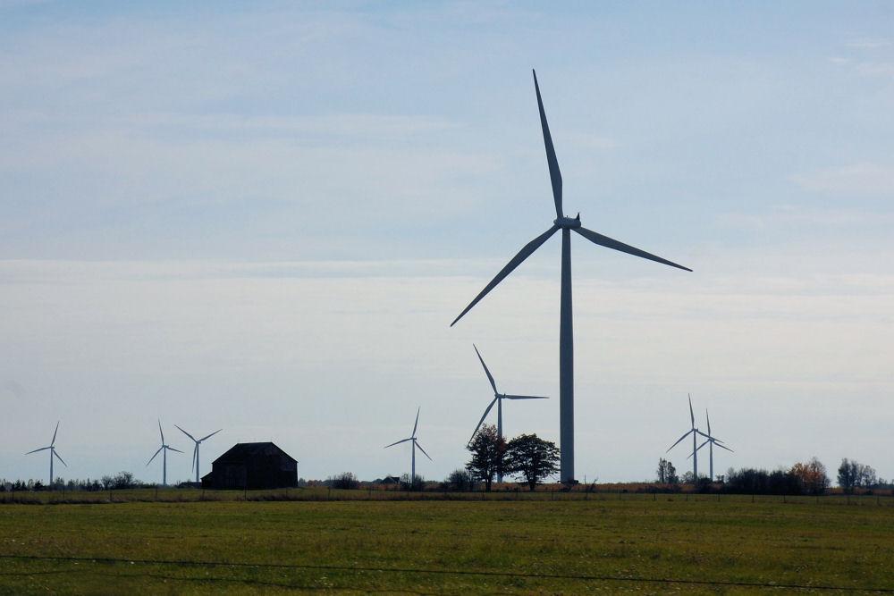Wolfe Island wind generators, Ontario