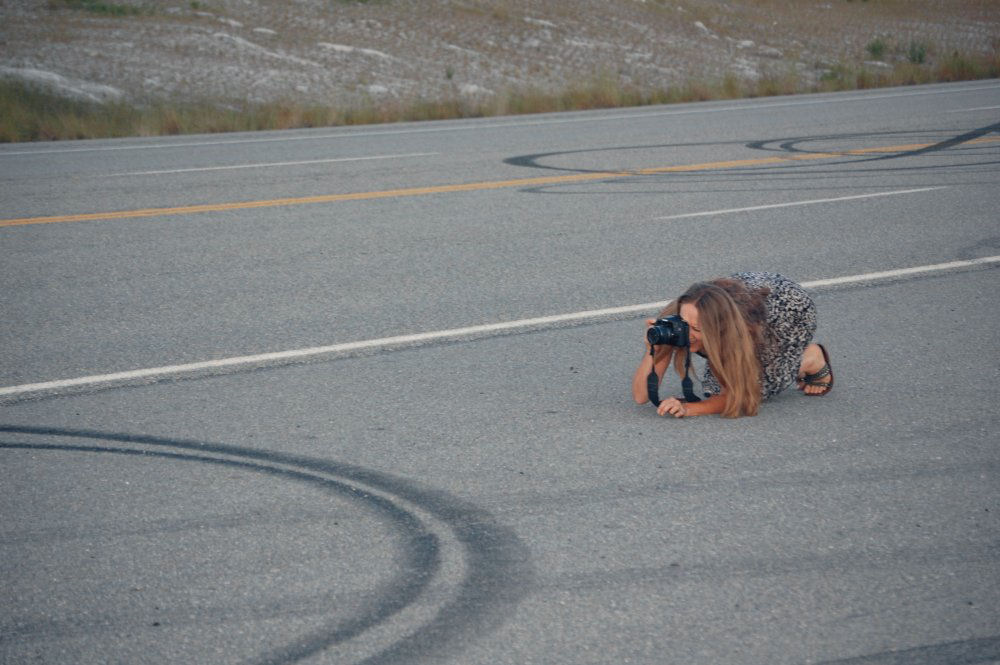 Anything for a pic - Wild Horse Scenic Byway, Hwy 95, Idaho