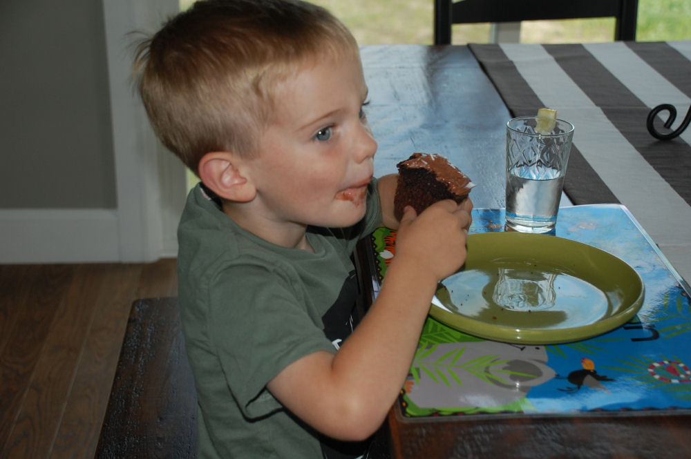 My sweety-pie grandson, Cameron, loves cupcakes