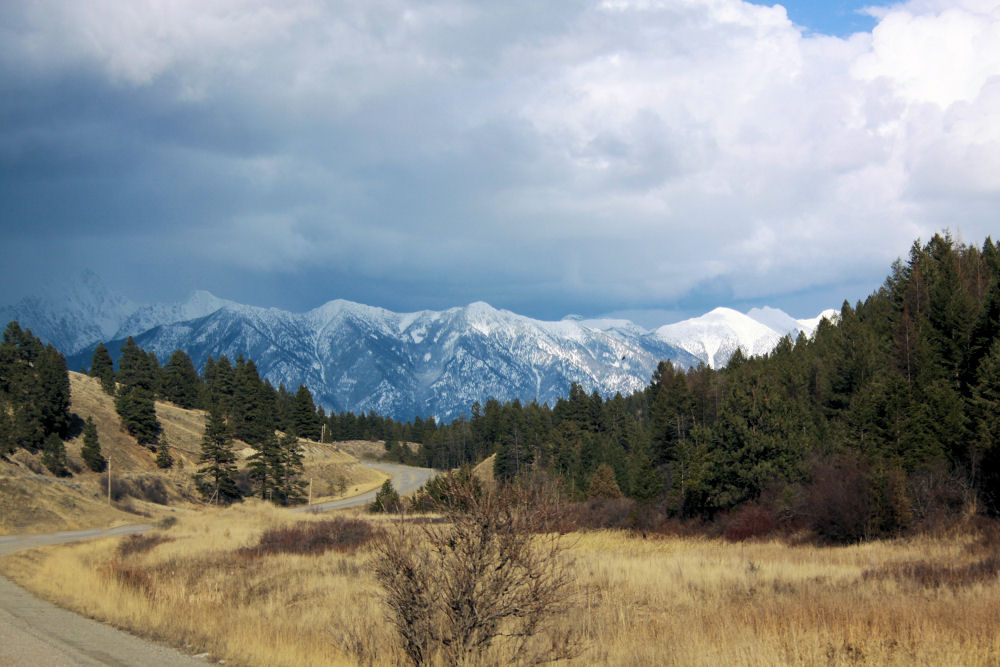 Rocky Mountain Trench, Cranbrook BC, Spring storm