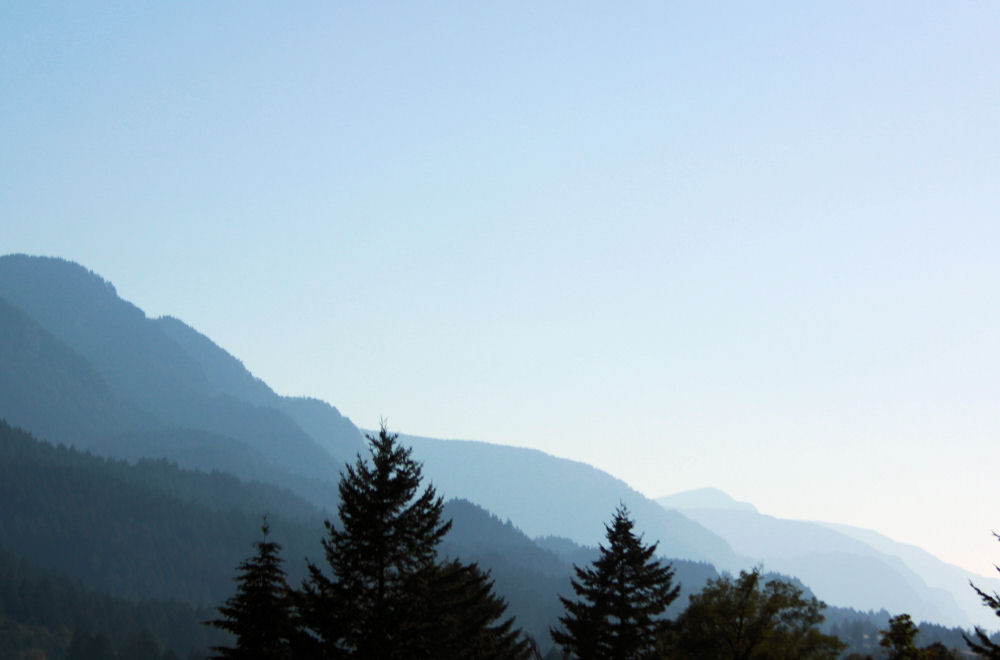 Afternoon haze, Eastern Columbia River Gorge, OR