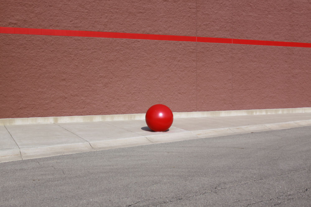 Target store red ball, Janesville, WI
