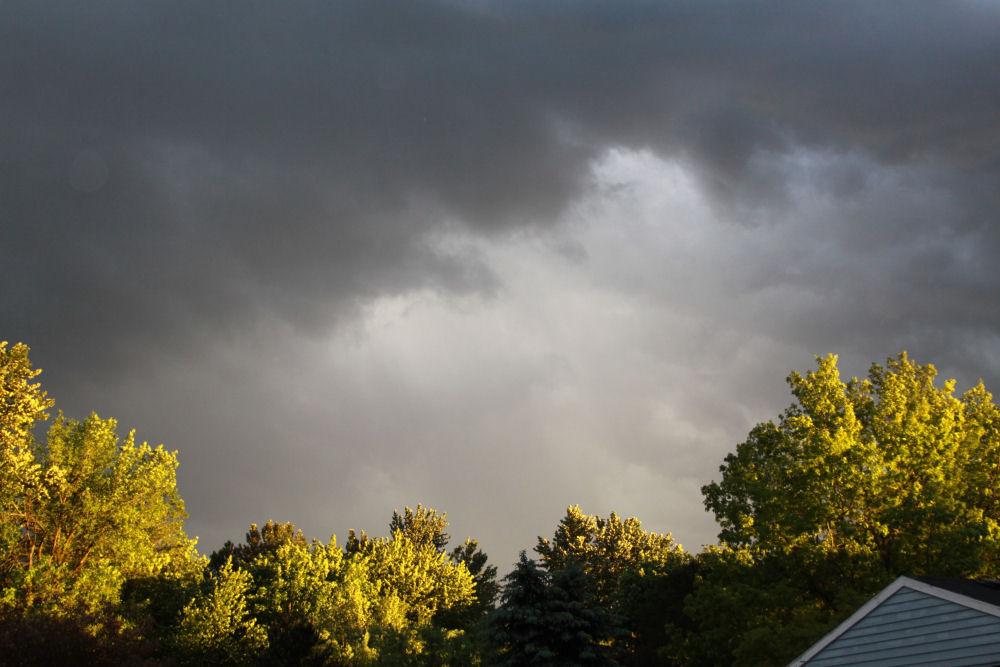 Storm at sunset, Hillsboro, OR