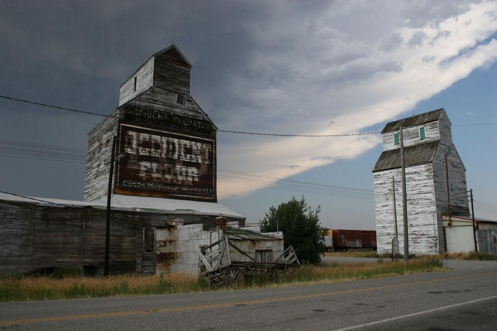 Grain Elevators, Sweetgrass, Montana