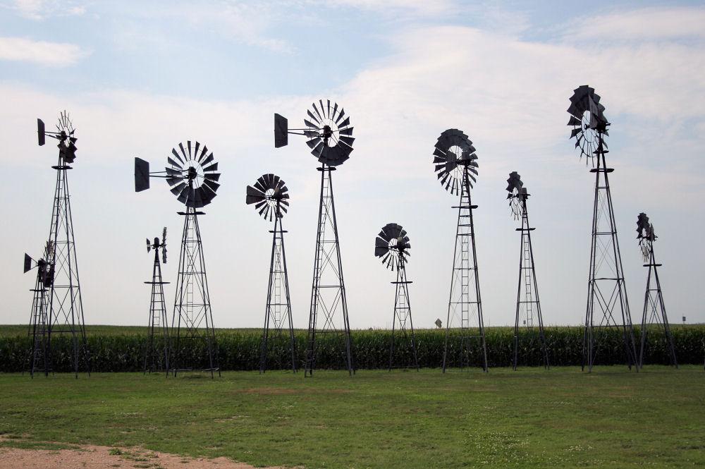 Windmills, Comstock, Nebraska