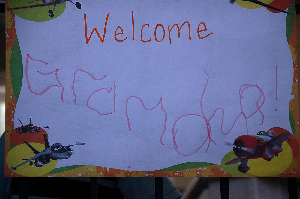 Cameron's Welcome Grandma sign