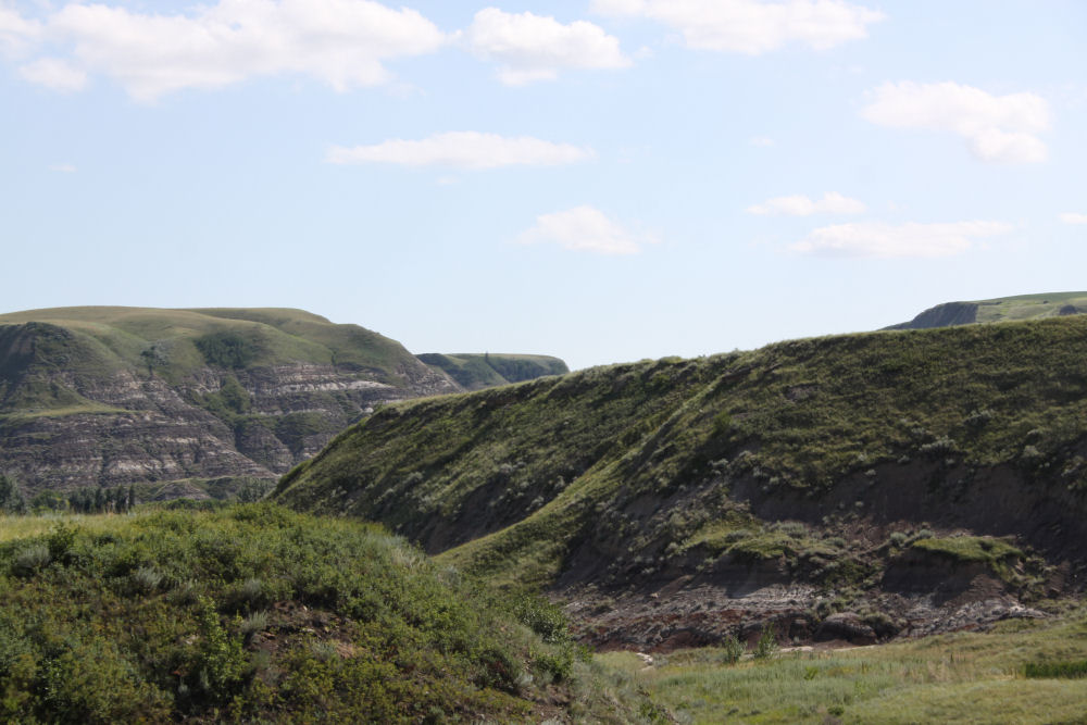 Landscape around Drumheller, Alberta