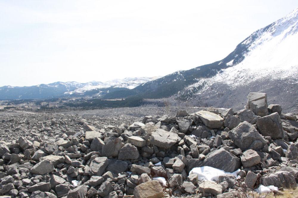 Frank Slide, Alberta,Canada