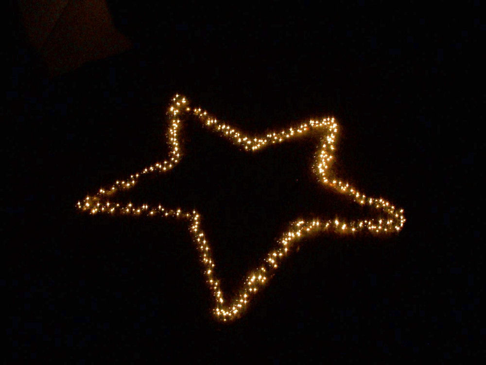 Front yard Christmas star, Lewisville, TX