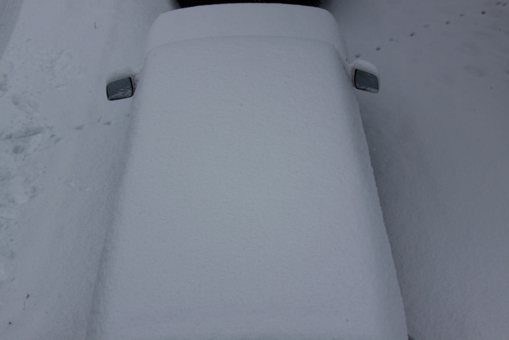 Snow covered car, Ottawa, Ontario