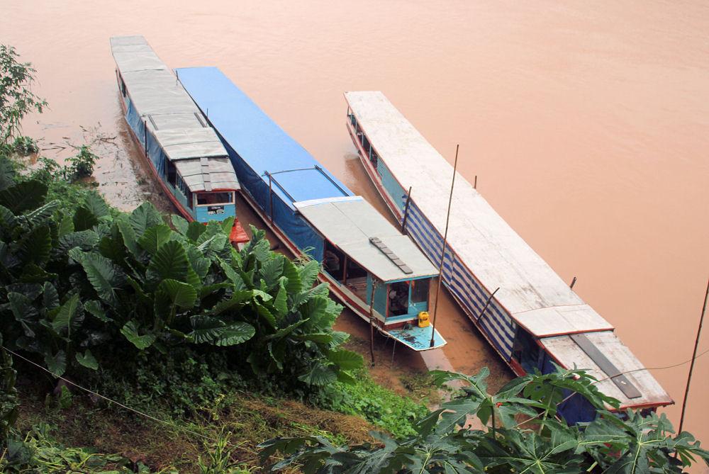 Mekong River boats, Luang Prabang, Laos
