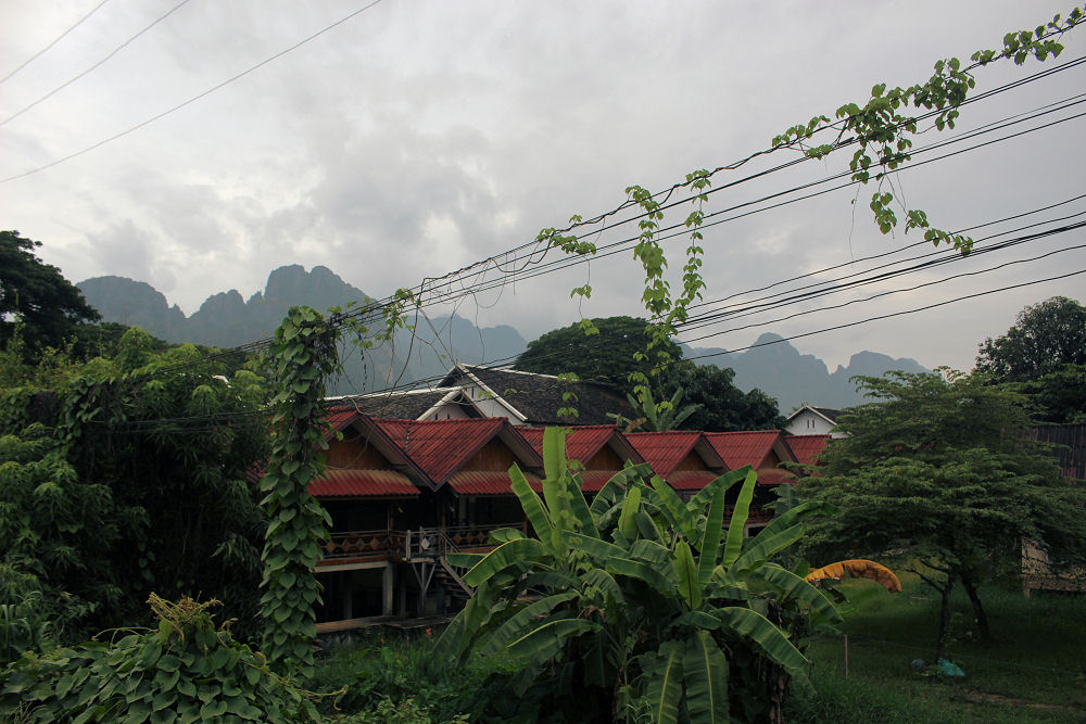 Evening walk, Vang Vieng, Laos