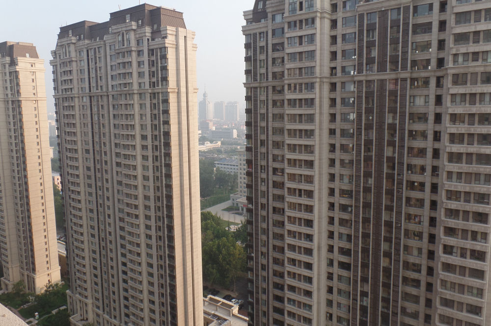View from our son's apartment building in Zibo, China