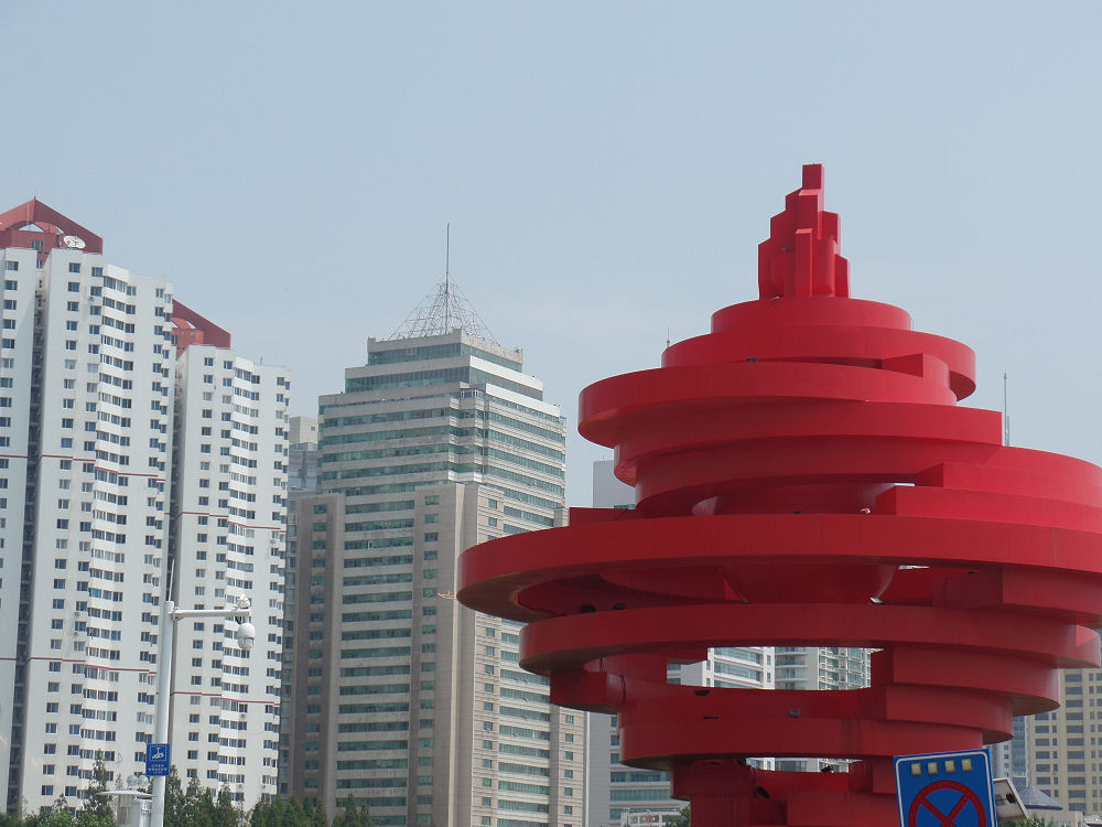 "Monument ""Winds of May"" to mark WWI era reform movement, Qingdao, China"