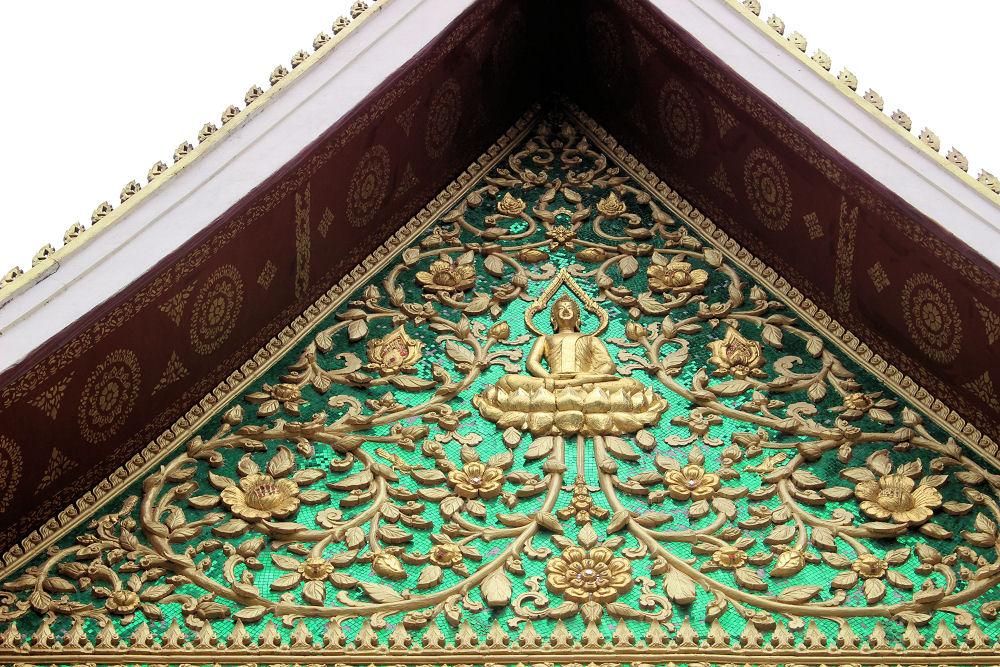 Wat Inpeng temple detail, Vientiane Laos