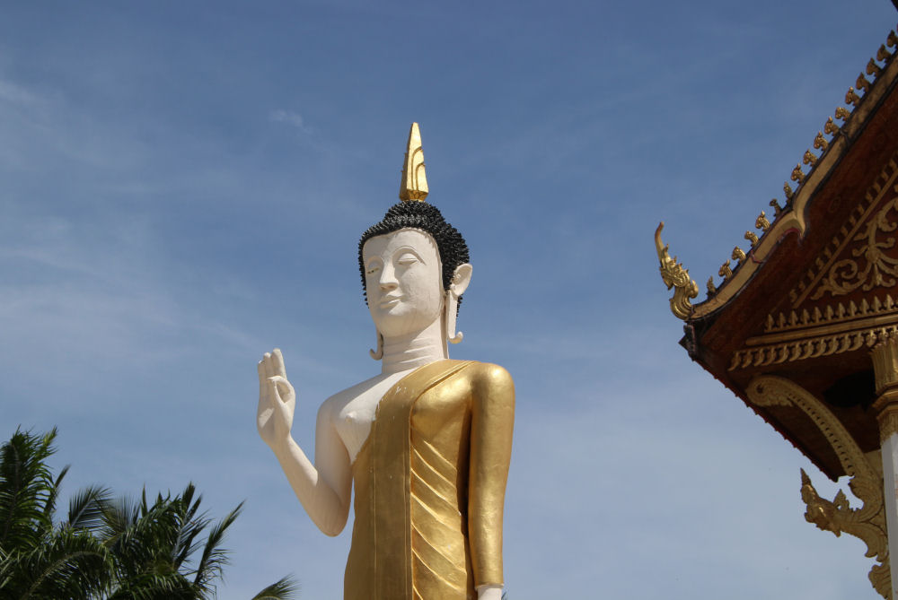 Pha That Luang Buddhist stupa temple, Vientiane, Laos