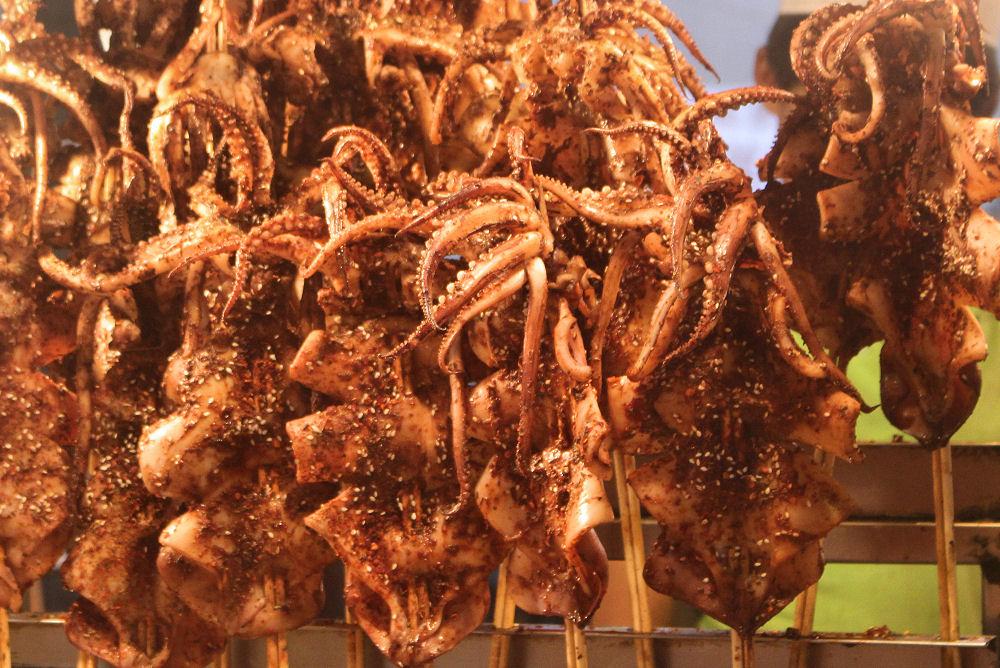 Night market - squid, Xi'an, China