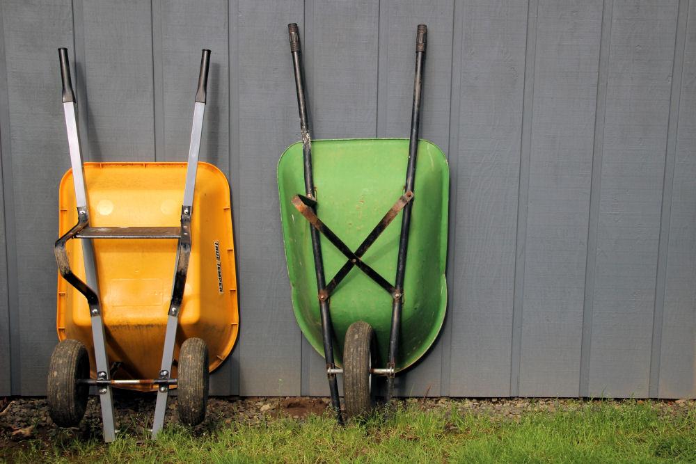 Wheelbarrows, Hillsboro OR garden