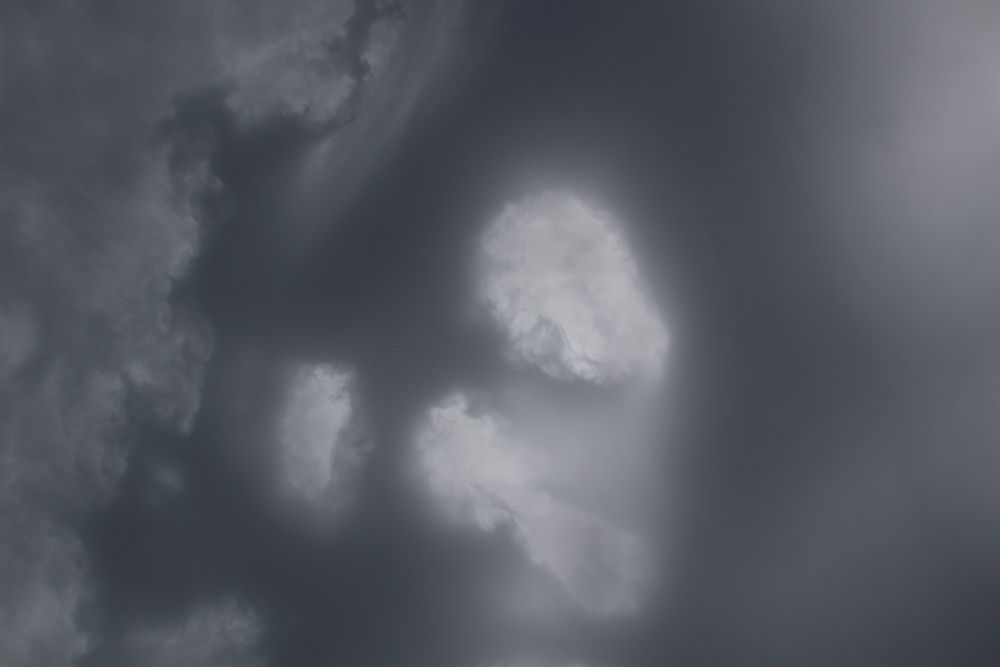 Spooky storm clouds with holes, Hillsboro