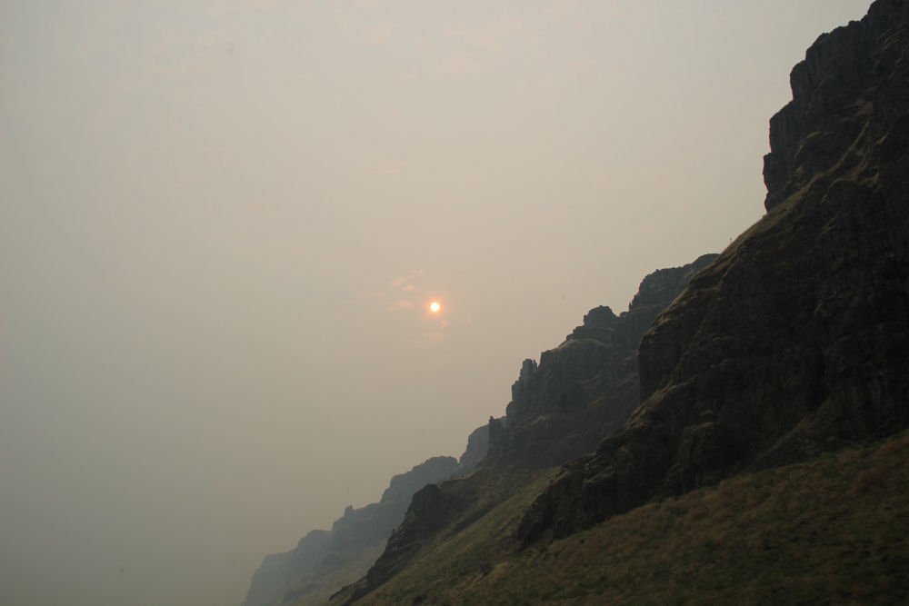 Forest fires at the Columbia River Gorge, OR