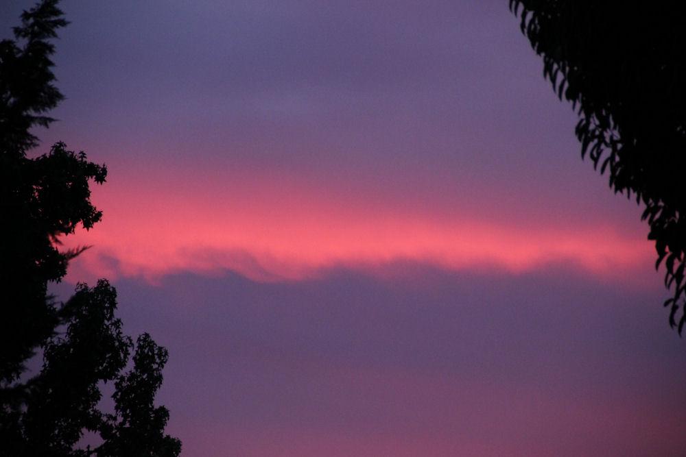 Autumn sunset, 6:30 p.m., Hillsboro, OR