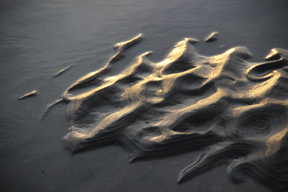 Sand patterns, Oceanside, OR